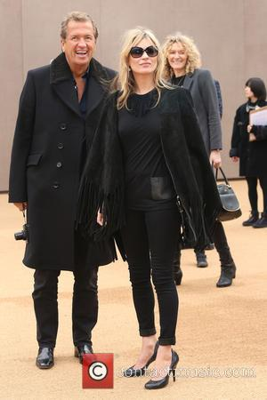 Kate Moss and Mario Testino - LFW Autumn/Winter 2015 - Burberry Prorsum - Arrivals - London, United Kingdom - Monday...
