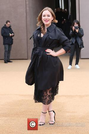 Tanya Burr - LFW Autumn/Winter 2015 - Burberry Prorsum - Arrivals - London, United Kingdom - Monday 23rd February 2015