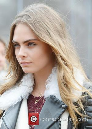 Cara Delevingne - London Fashion Week Autumn/Winter 2015 - Burberry Prorsum - Outside Arrivals at London Fashion Week - London,...