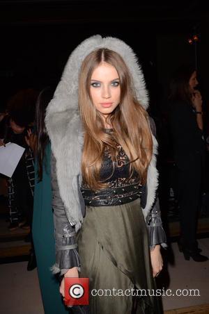 Xenia Tchoumitcheva - London Fashion Week Autumn/Winter 2015 - Pam Hogg - Front Row at London Fashion Week - London,...