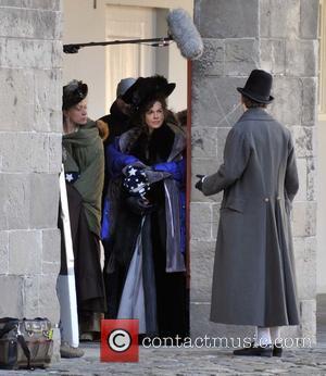 Chloe Sevigny and Kate Beckinsale - Kate Beckinsale and Chloe Sevigny on the set of 'Love and Friendship' - Dublin,...