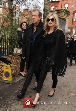 Kate Moss and Mario Testino - London Fashion Week Autumn/Winter 2015 - Burberry Prorsum - Outside Arrivals at London Fashion...