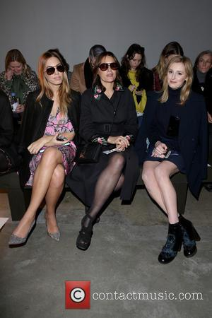 Amber Le Bon, Yasmin Le Bon and Laura Carmichael - London Fashion Week Autumn/Winter 2015 - Christopher Kane - Front...