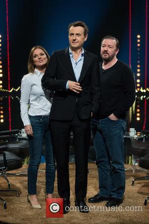 Geri Halliwell, Fredrik Skavlan and Ricky Gervais