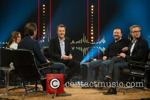 Ricky Gervais, Magnus Falkehed, Fredrik Skavlan, Geri Halliwell and Niclas Hammarström