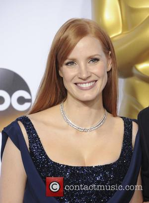 Jessica Chastain - Shots of a variety of stars in the press room at Hollywood's biggest night, the 87th Annual...
