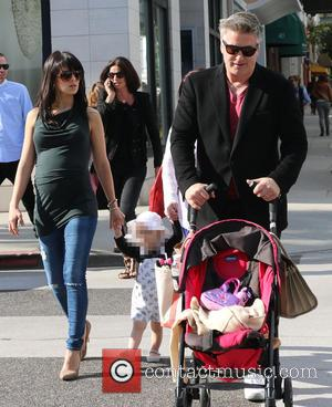 Alec Baldwin, Hilaria Baldwin and Carmen Gabriela Baldwin - Alec Baldwin enjoying a family day out with his expectant wife...