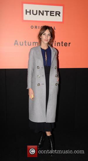 Alexa Chung Christopher Kane Show Fashion Week
