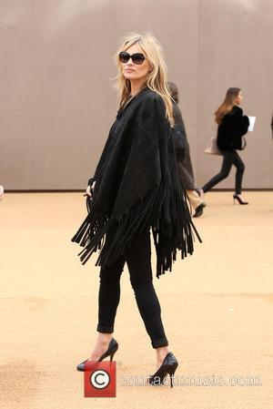 Kate Moss - London Fashion Week Autumn/Winter 2015 - Burberry Prorsum - Arrivals at London Fashion Week - London, United...