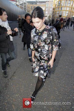 Pixie Geldof - London Fashion Week Autumn/Winter 2015 - Christopher Kane - Outside Arrivals at London Fashion Week - London,...