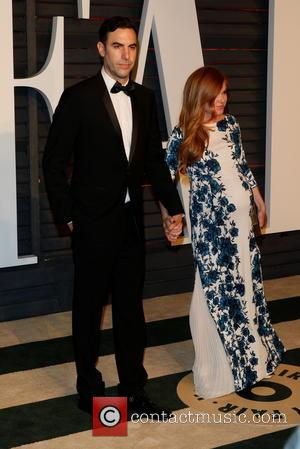 Sacha Baron Cohen and Isla Fisher - 87th Annual Oscars - Vanity Fair Oscar Party at Oscars - Beverly Hills,...