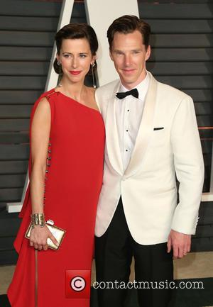 Benedict Cumberbatch and Sophie Hunter - 2015 Vanity Fair Oscar Party Hosted By Graydon Carter at Wallis Annenberg Center for...