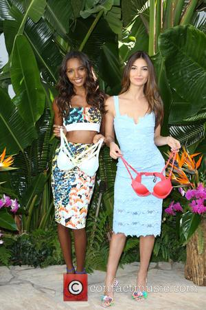 Jasmine Tookes and Lily Aldridge - Victoria's Secret Supermodels Lily Aldridge and Jasmine Tookes pose for the debut of So...