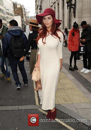Amy Childs - London Fashion Week Autumn/Winter 2015 - Celebrity Sightings at London Fashion Week - London, United Kingdom -...