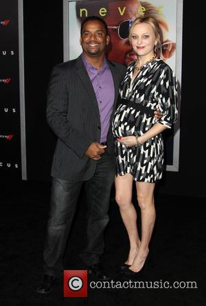 Alfonso Ribeiro and Angela Unkrich - A variety of stars were photographed as they attended the World Premiere of Warner...