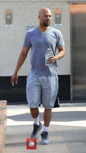 Common - Actor and musician Common hits the gym after winning an Academy Award for best original song for 'Glory.'...