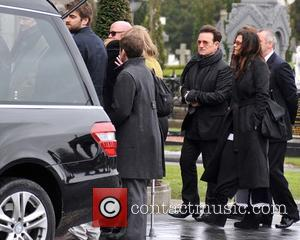 Bono and Ali Hewson - The Funeral of Rev.Jack Heaslip at St.Mary's Church Howth. Rev.Heaslip was U2's chaplin and travelled...