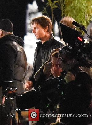Tom Cruise - Film set for 'Mission: Impossible 5' at the Tower of London at Tower of London - London,...