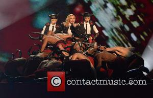 Madonna - The Brit Awards 2015 (Brits) held at the O2 - Performance at The Brit Awards - London, United...