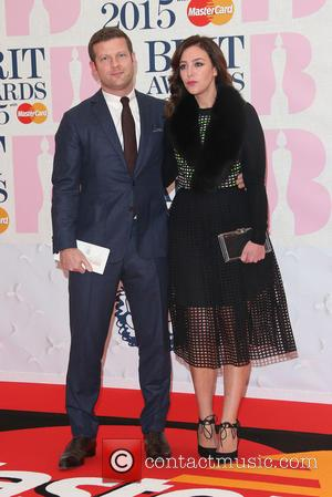 Dermot O'Leary and Dee Koppang - A variety of stars from the music industry were photographed as they arrived at...