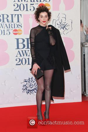 St Vincent - A variety of stars from the music industry were photographed as they arrived at the Brit Awards...