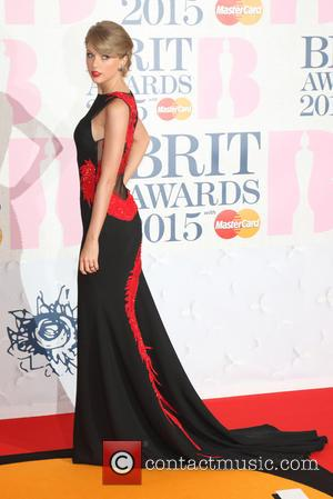 Taylor Swift and Taylor Swift - The Brit Awards Red Carpet Arrivals at 02 Arena, London at O2 Arena, The...