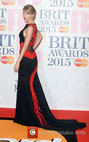 Taylor Swift - BRIT Awards 2015 at the O2 Arena - Red Carpet Arrivals - London, United Kingdom - Wednesday...