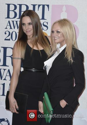 Mel C and Emma Bunton - A variety of stars from the music industry were photographed as they arrived at...