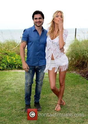 Juanes and Martha Hunt - Victoria's Secret photocall to celebrate the Victoria's Secret Swim Special at The Ritz-Carlton at The...