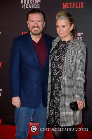Ricky Gervais - Shots of the stars of hit Netflix show 'House Of Cards' as they attend the UK TV...