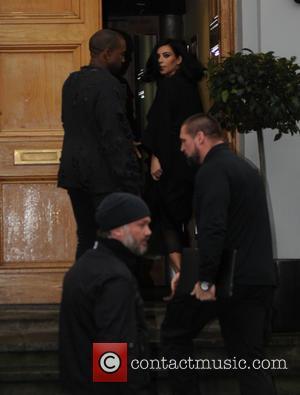 Kanye West and Kim Kardashian West - Kim Kardashian West and Kanye West  out in London after the Brit...