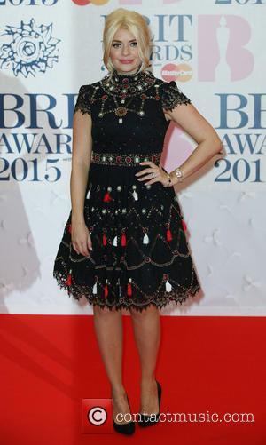 Holly Willoughby - The Brit Awards at the O2 - Arrivals at The Brit Awards - London, United Kingdom -...
