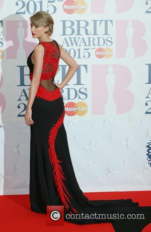 Taylor Swift - The Brit Awards at the O2 - Arrivals at The Brit Awards - London, United Kingdom -...