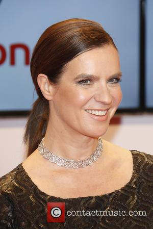 Katarina Witt - Shots of a host of stars as they arrive for the annual German Goldene Kamera Awards 2015...