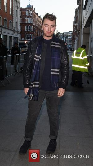 British singer songwriter Sam Smith was photographed as he arrived at the BBC Radio 1 studio's for an appearance on...