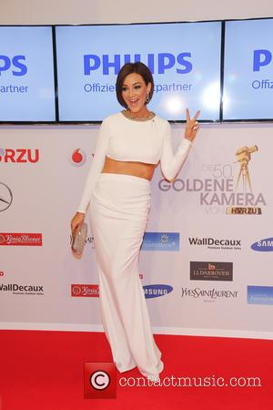 Verona Pooth - Shots of a host of stars as they arrive for the annual German Goldene Kamera Awards 2015...