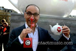 Theo Paphitis - Theo Paphitis holds a tea party in Trafalgar Square in aid of 'Red Nose Day' and supported...
