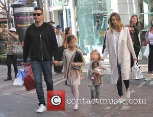 Jessica Alba, Cash Warren, Haven Garner Warren and Honor Marie Warren