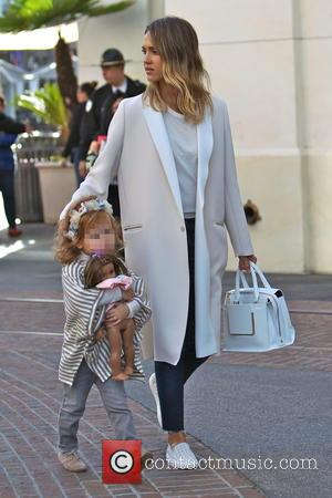 Jessica Alba and Haven Warren - Jessica Alba and husband Cash Warren take their daughters shopping at The Grove, and...