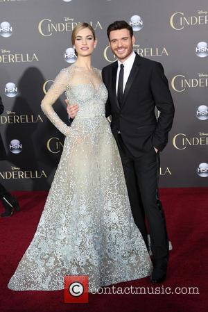 Lily James and Richard Madden - A host of stars were snapped as they attended the premiere of Disney's