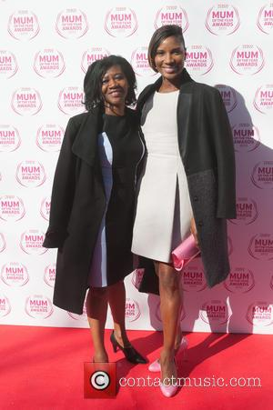 Denise Lewis and Guest - The 10th anniversary year of the Tesco Mum of the Year Awards 2015 held at The Savoy...