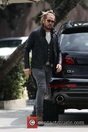 Marco Perego - Marco Perego arrives for lunch with Zoe Saldana at Aro in West Hollywood - Los Angeles, California,...