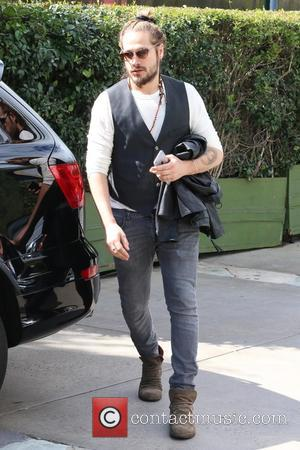 Marco Perego - Zoe Saldana and husband Marco Pereg leaving Ago Restaurant in West Hollywood at Ago - Los Angeles,...
