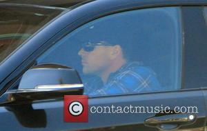 Chris Klein - Chris Klein driving in his BMW car in Beverly Hills - Los Angeles, California, United States -...