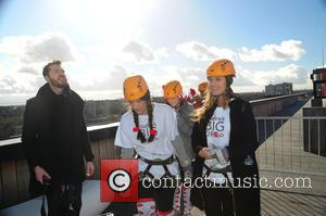 Josie Smith and Francesca Newman-Young - Francesca Newman-Young and Beth Sherburn abseil down Fort Dunlop for Claires Big Drop Comic...