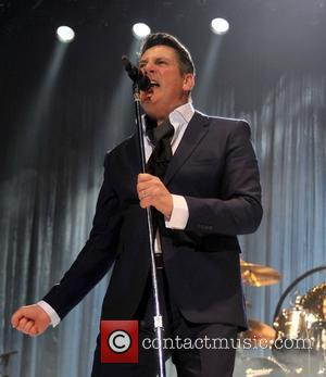 Tony Hadley - Shots of British new wave band Spandau Ballet as they performed live in concert at the 3Arena...