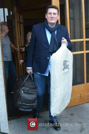 Tony Hadley - Members of 80s new wave band Spandau Ballet seen leaving The Clarence Hotel to perform the first...