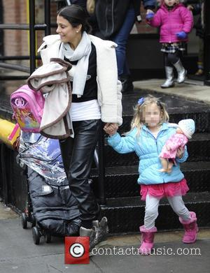 Bethenny Frankel and Bryn Hoppy - Bethenny Frankel picks her daughter up from school - Manhattan, New York, United States...