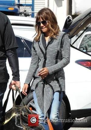American actress Halle Berry was photographed on the set of  or her new film