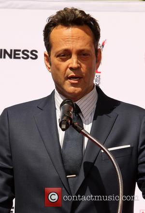 Vince Vaughn - American comedy actor Vince Vaughn was photographed as he was awarded with a Handprints and Footprints Ceremony...